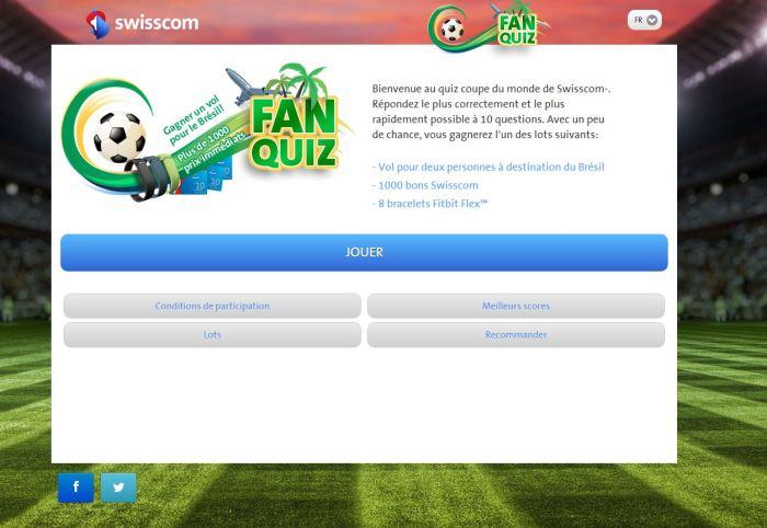 Swisscom Fan Quiz.