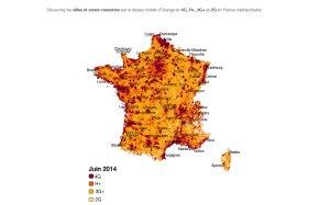 Le réseau d'Orange en France. L'opérateur a déjà couvert Strasbourg et Toulouse en 4G+.
