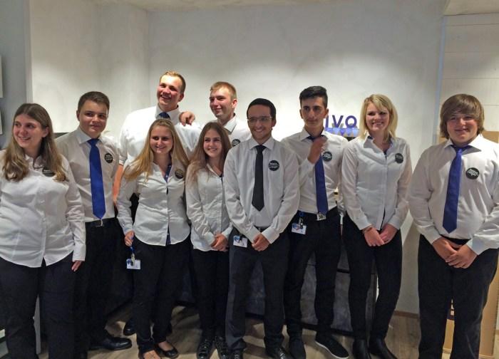 L'équipe du premier Swisscom Junior Shop.