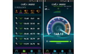LTE Advanced. Mesures à Lausanne sur le réseau de Swisscom.