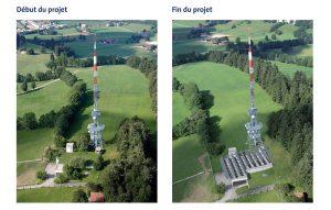 Installation photovoltaïque Swisscom à La Chaux-de-Fonds.