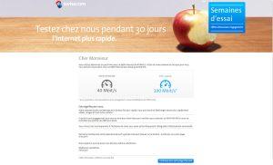 Swisscom propose de surfer plus vite gratis.