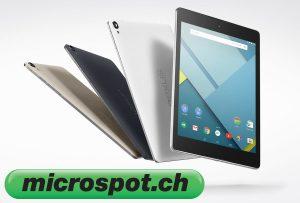 La Nexus 9 pour 392 francs chez microspot.ch.