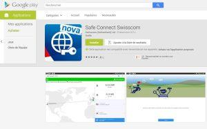 L'application Safe Connect de Swisscom.