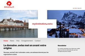 L'extension «.swiss» dispose de son site internet en «.ch».