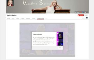 "YouTube propose une fonctionnalité ""multi-view"" sur la page de Madilyn Bailey."