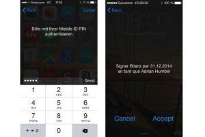 Signer avec le PIN de son smartphone grâce à Swisscom.
