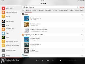 L'interface de Sonos Connect est claire et efficace.