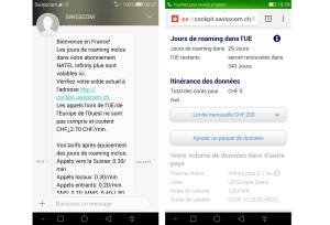 Une maladresse, 100Ko de consommé et une journée de roaming perdue chez Swisscom.