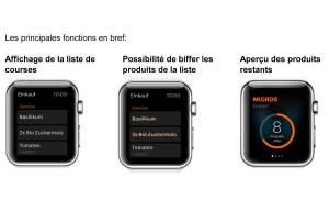 La Migros sur sur l'Apple Watch!