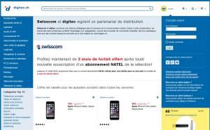 Swisscom collabore avec digitec.