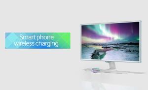 Recharger sans fil avec un moniteur Samsung.