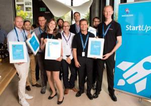 Les lauréats du Swisscom StartUp Challenge 2015.