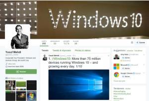 Windows 10: 75 millions de téléchargements.