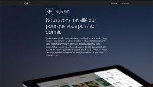 Apple Night Sight sous iOS 9.3.