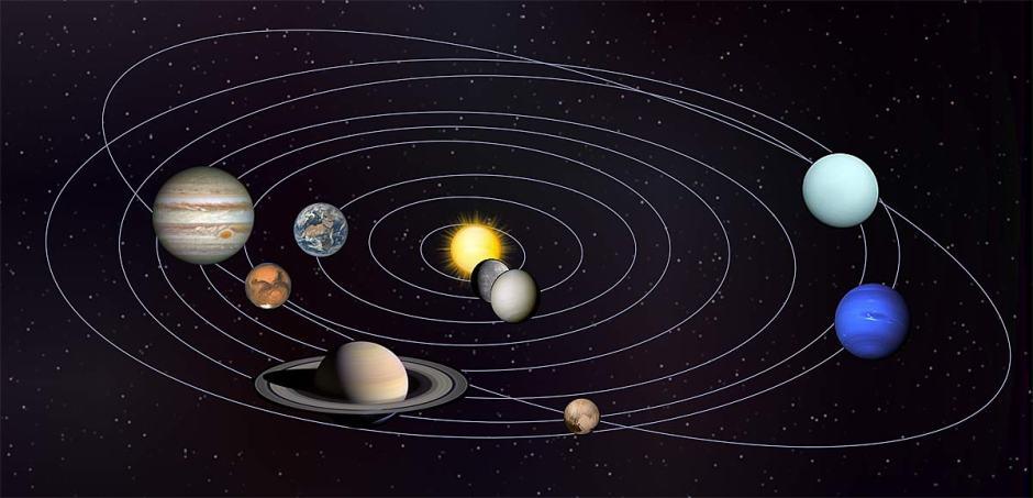 Le système solaire sur Bing, en version américaine.