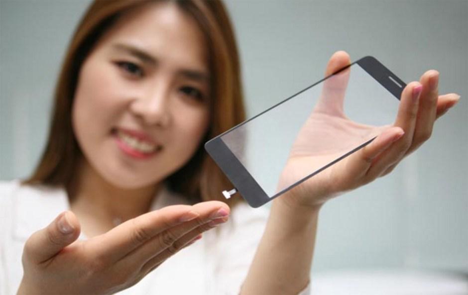 L'écran LG capable de scanner votre empreinte digitale.