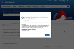 Le coup de la panne chez Swisscom...