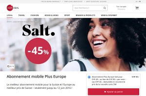Salt Plus Europe en promotion sur deindeal.ch.