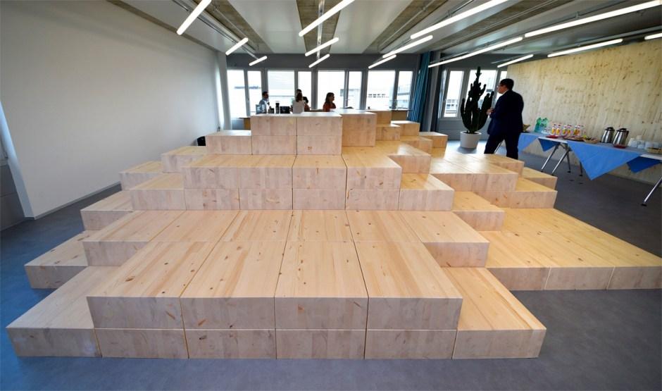 Swisscom Labs à l'EPFL: 400 m2 de bureaux.