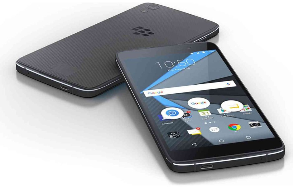 Le BlackBerry DTEK50 sous Android.