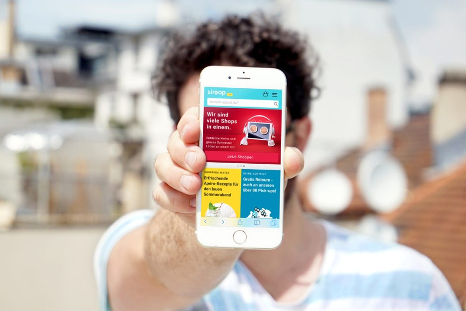 Le site de vente en ligne Siroop.ch.