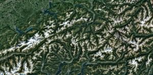 Images satellitaires: Google nous offre les Alpes en très haute définition!