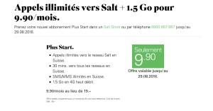 Lebara Mobile: surf gratuit contre recharge téléphonique. Ou Salt à 9,90 francs?