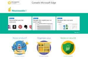 Le navigateur Edge, plus puissant sous Windows 10.