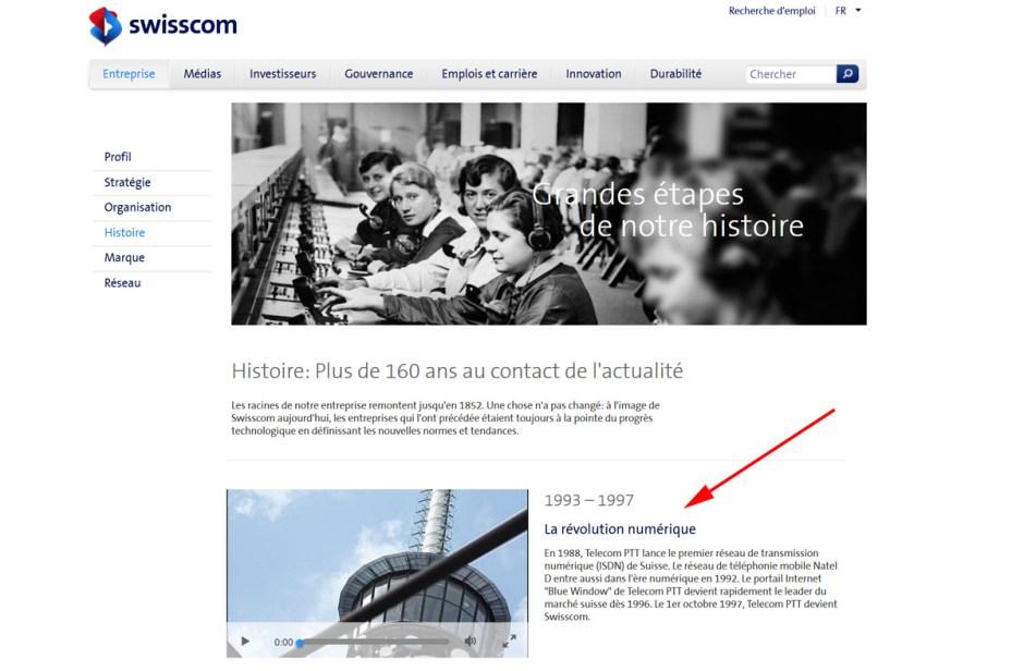 La révolution numérique identifiée par Swisscom.
