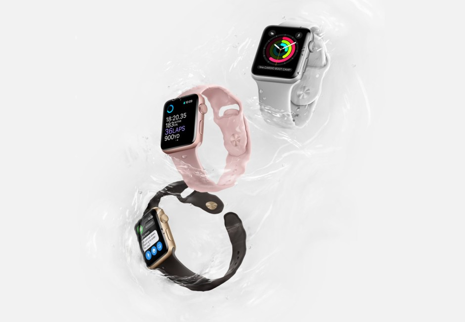 Apple Watch series 2 étanche à 50 mètres.