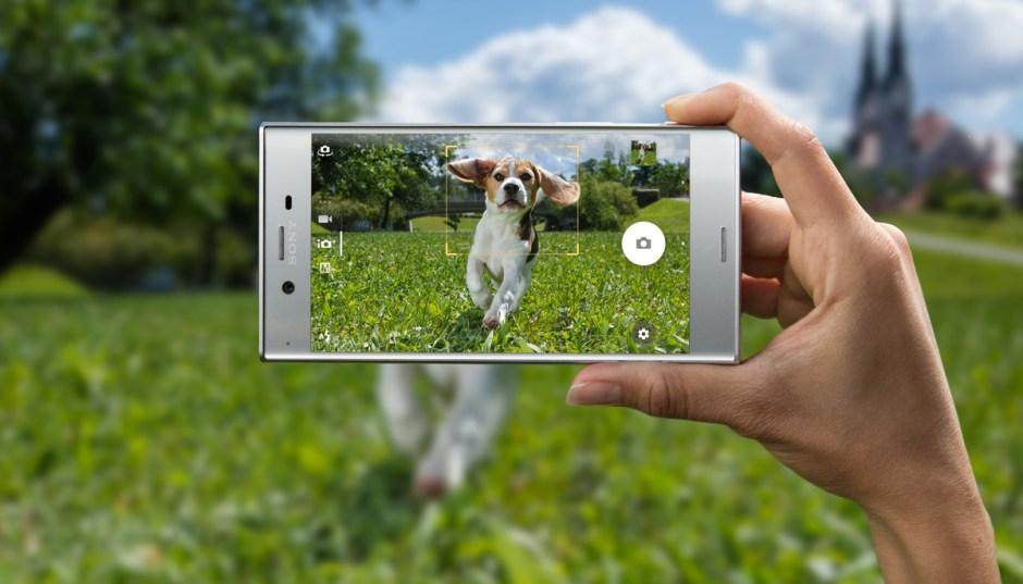 Le Sony Xperia XZ, version Platinum