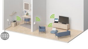 Le Devolo dLAN 1200+ Wi-Fi ac permet d'étendre son réseau internet à la maison.