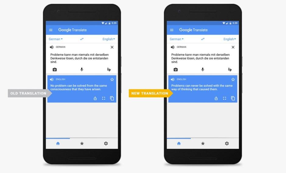 """Google améliore on outil de traduction en utilisant un système """"neuronal""""."""
