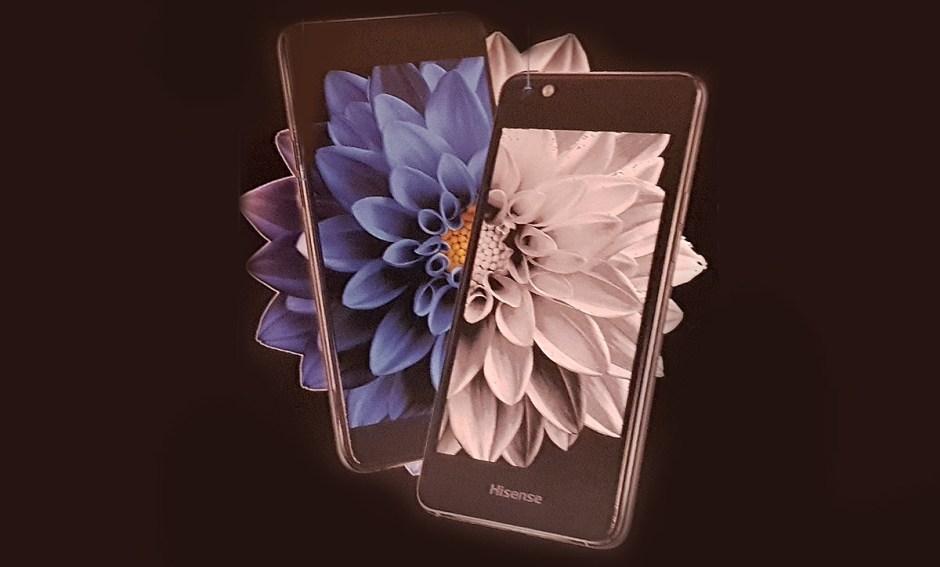 Le smartphone liseuse à double écran A2 de Hisense.
