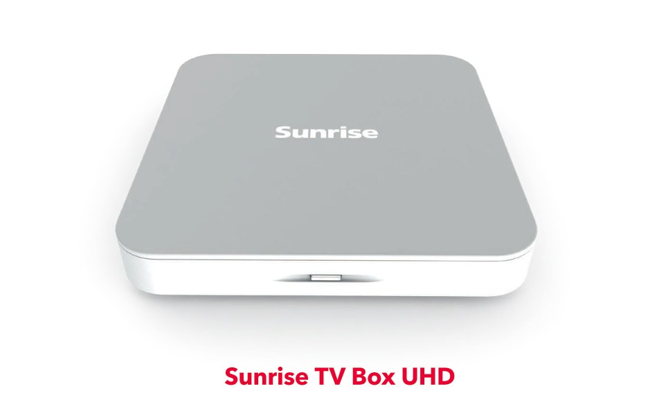 La nouvelle et design Sunrise TV Box UHD.