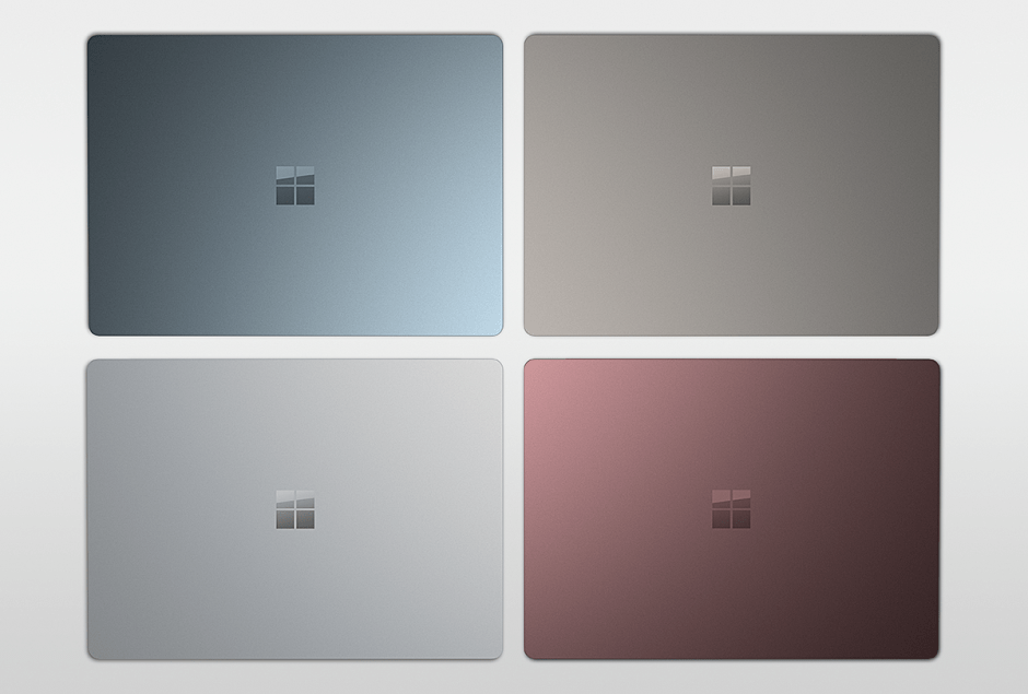 Le Surface Laptop de Microsoft sera disponible en quatre coloris.