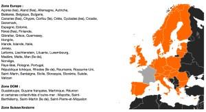 Tarifs de roaming d'Orange France pour la Suisse.