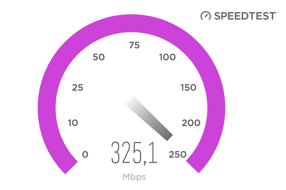 Un speedtest pour mesurer la vitesse d'internet.