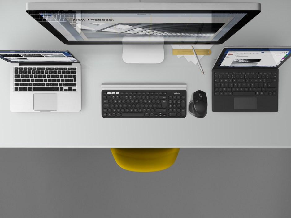 La Logitech MX Master 2S et un clavier comme le K780 permettent de passer simplement d'une machine à l'autre.