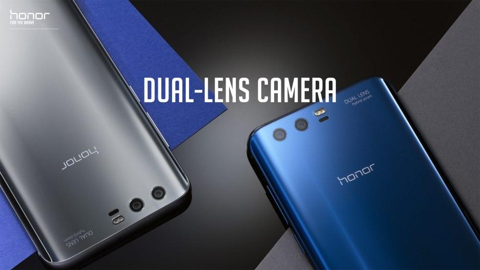 Honor 9: en plus de ses capteurs de 12 et 20 millions de pixels, celui de huit millions permet de réaliser de bon selfies, comme l'a montré notre test.