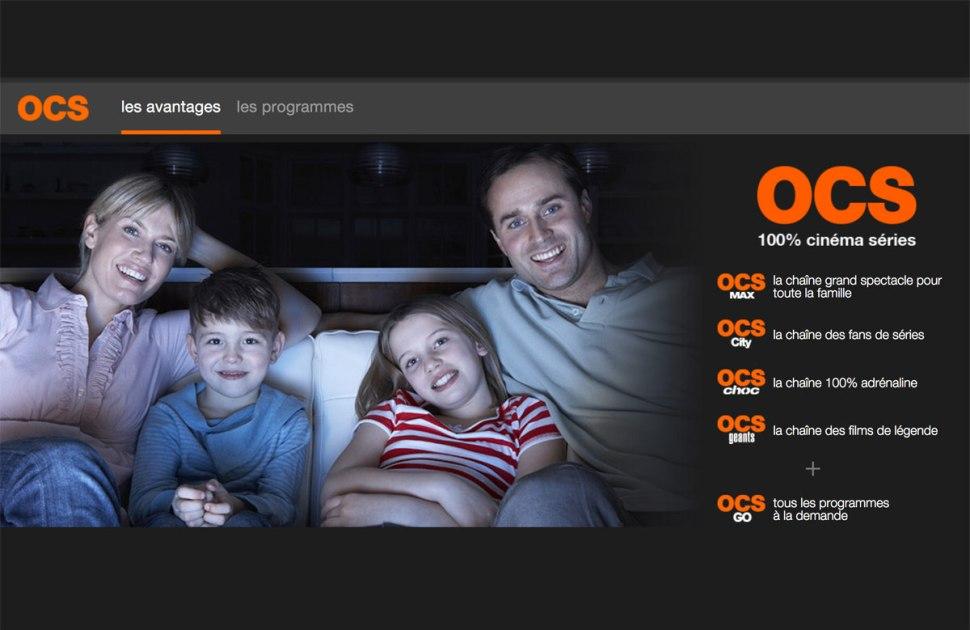 Créé en 2008, OCS est un bouquet de chaînes thématiques, dédié au cinéma et aux séries.