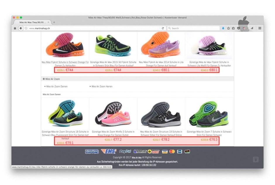 Switch met en garde contre les faux sites de commerce en ligne.