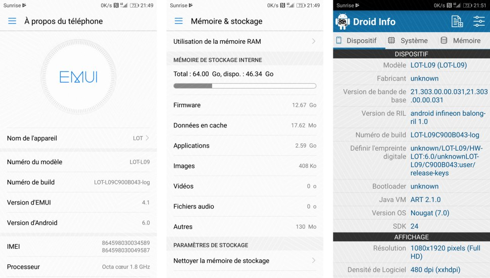 Honor 9: quand Huawei confond Android 6.0 avec Android 7.0...