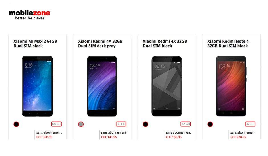 Mobilezone propose désormais différents modèles du Chinois Xiaomi.