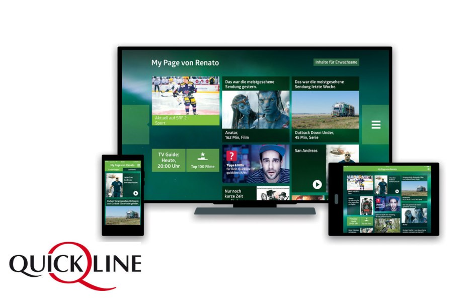 Quickline propose une offre de TV gratuite.