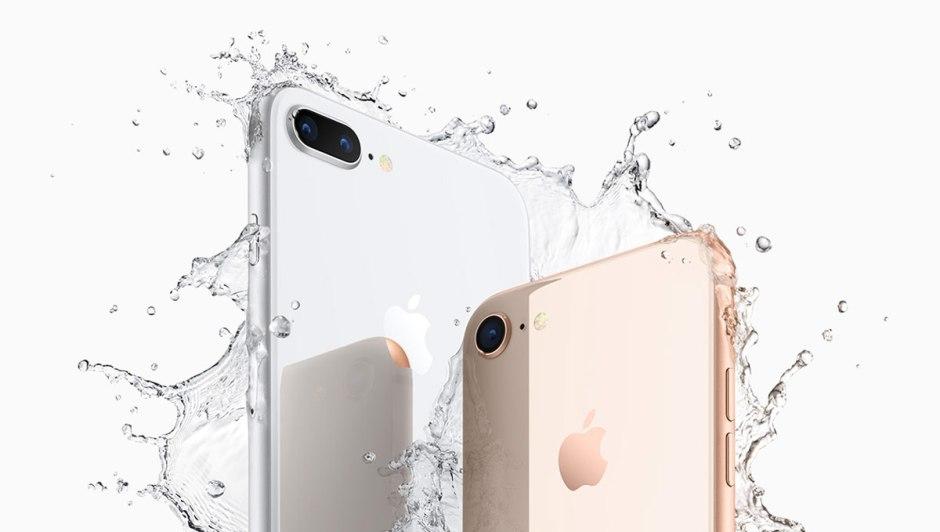 Les nouveaux iPhone 8 et iPhone 8 Plus sont toujours étanches.