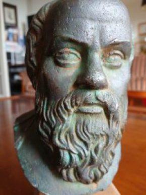 Le buste de Socate immortalisé avec le générateur 3D du Sony Xperia XZ1.