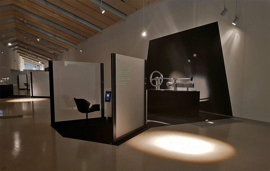 Mental Work à l'ArtLab de l'EPFL: un décor futuriste.