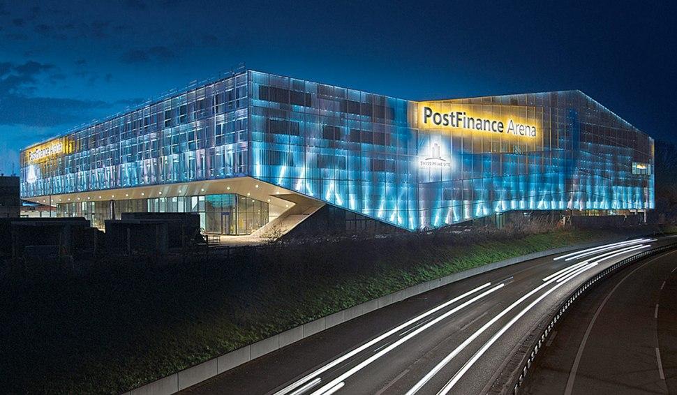 PostFinance Arena. «© PostFinance SA 2017, Tous droits réservés».